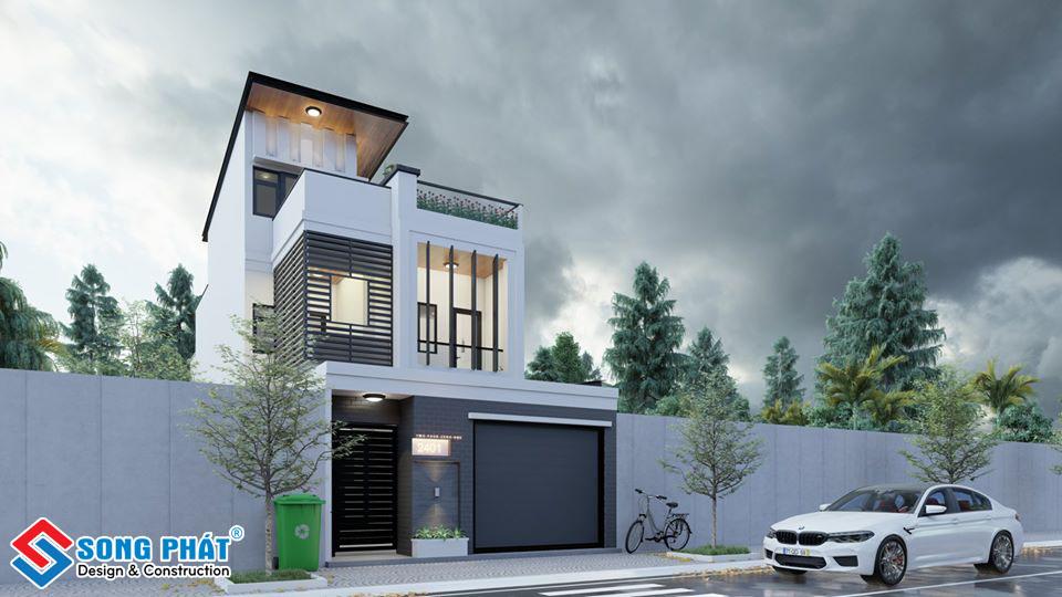 Nhà 2 tầng thiết kế hiện đại thoáng sáng.