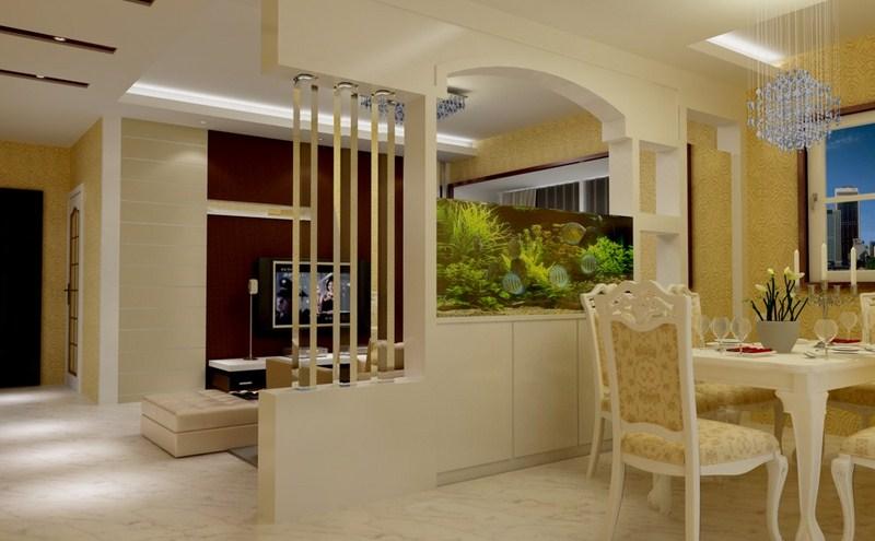 Phòng khách nhà 1 tầng diện tích 80m2