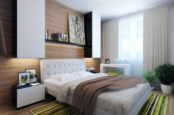 phòng ngủ nhỏ nhà 1 tầng 5x20m