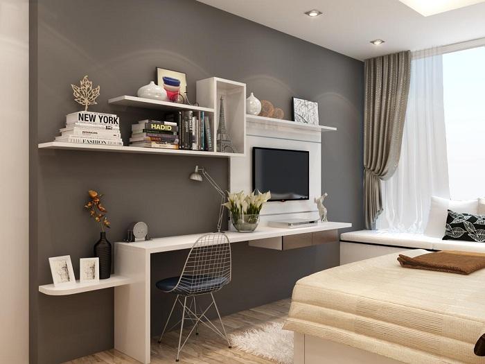 phòng ngủ bố mẹ nhà 1 tầng 5x20m