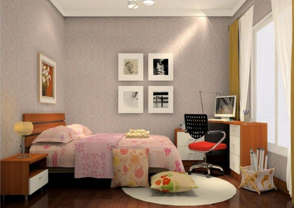 phòng ngủ chính nhà 1 tầng đơn giản