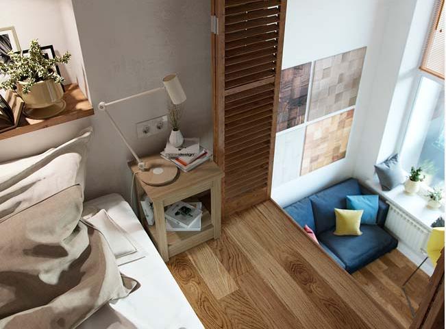 không gian gác lửng cho nhà diện tích nhỏ