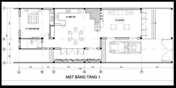 nhà ống 2 tầng mái thái 95m2