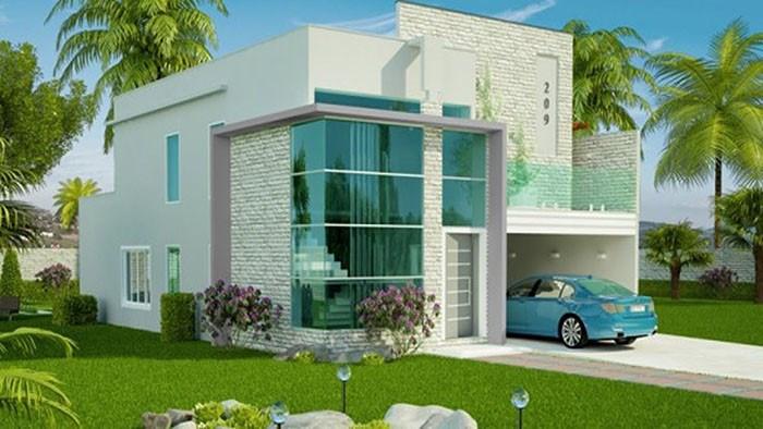 thiết kế nhà 1 tầng