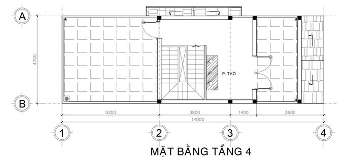 thiết kế nhà phố 3,5 tầng
