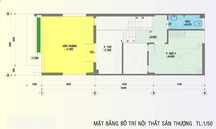 nhà phố 3 tầng 5x20m