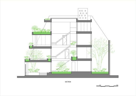 thiết kế nhà phố 4 tầng đẹp