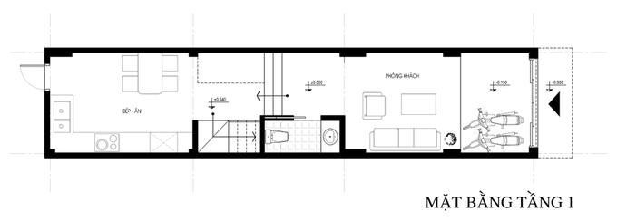 thiết kế nhà 4 tầng 45m2 thông thoáng