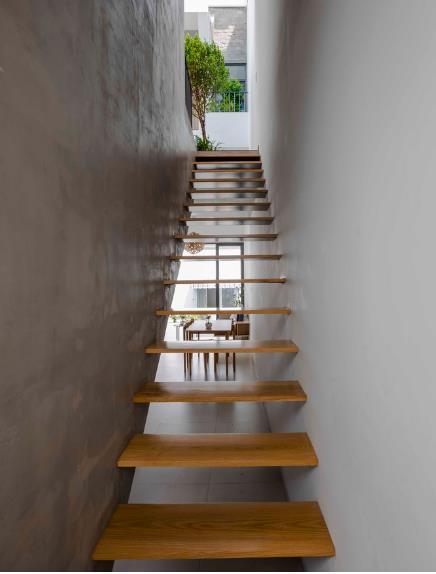 thiết kế nhà lệch tầng