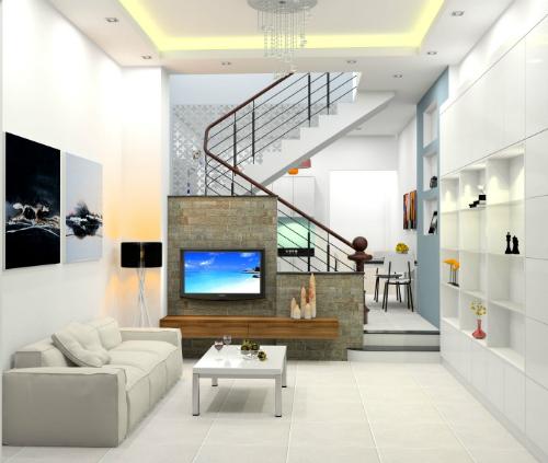 thiết kế nhà ống 2 tầng