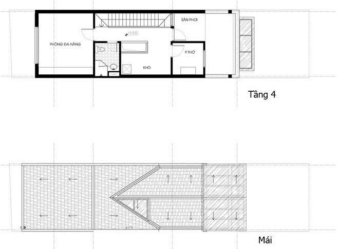 thiết kế nhà phố 100m2