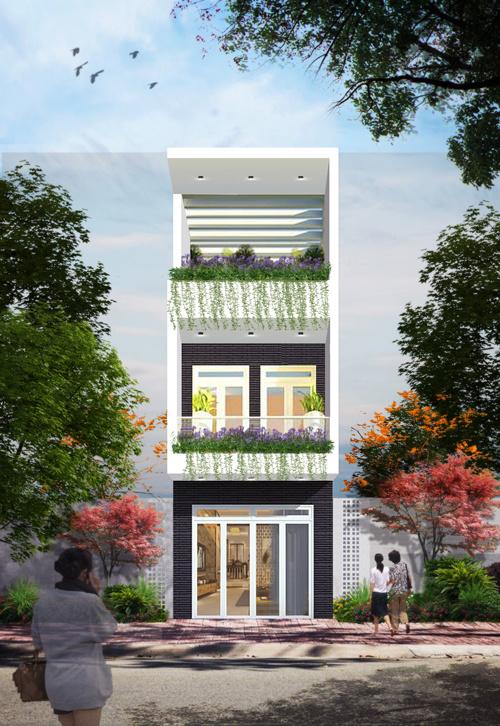 thiết kế thi công nhà phố 3 tầng