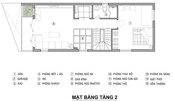 xây dựng nhà phố 4 tầng mặt tiền 6m