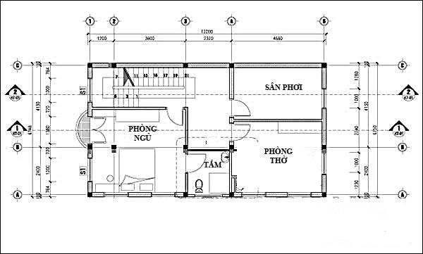 nhà phố 3 tầng 6x12m hiện đại