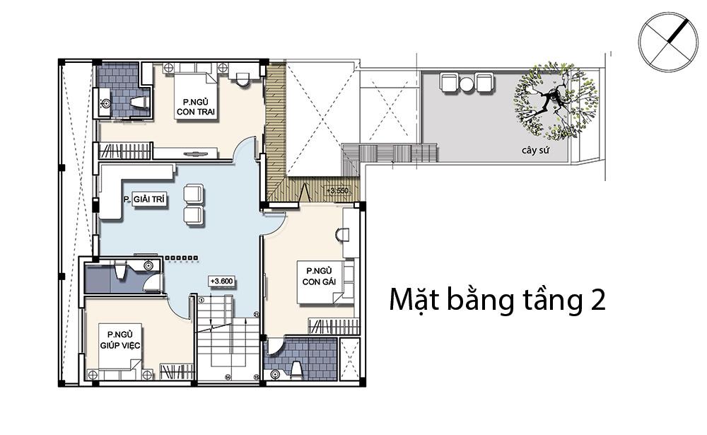 không gian nhà phố 9x11m
