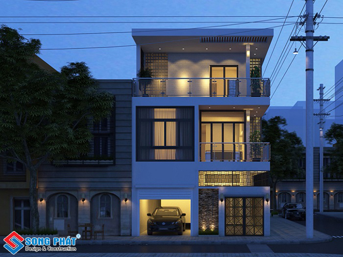 Thiết kế nhà mặt tiền 8m