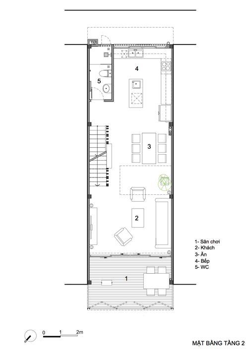 thiết kế nhà phố 4 tầng có ban công rộng