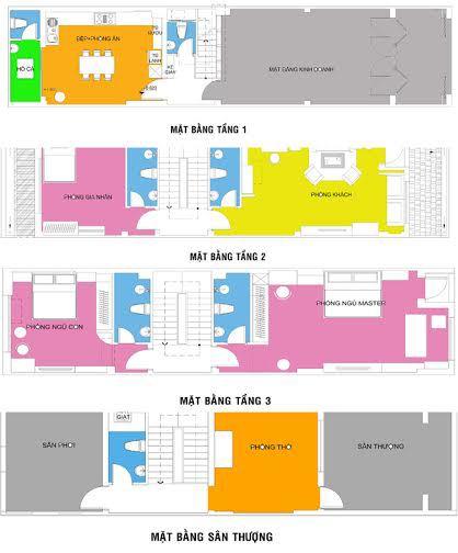 thiết kế nhà phố 4 tầng kết hợp ở và kinh doanh