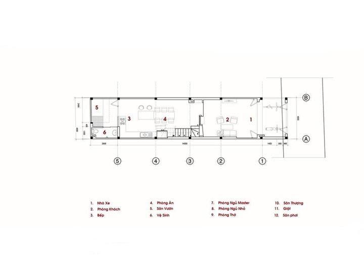 nhà ống 2,5 tầng diện tích 4x18m