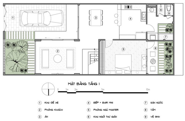 thiết kế xây dựng nhà phố 2 tầng