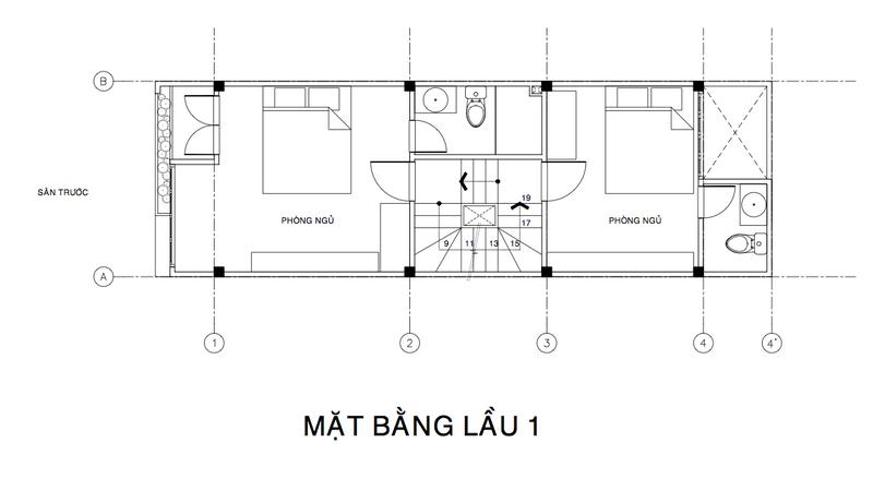 thiết kế nhà phố 3 phòng ngủ
