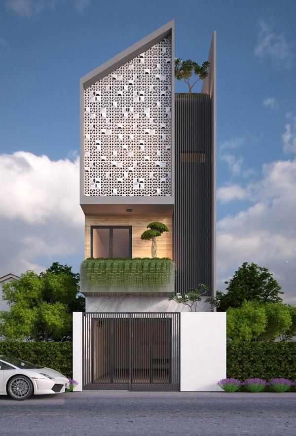 thiết kế nhà ống 3 tầng 4.5x20m