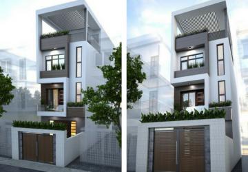 xây dựng nhà phố 3 tầng mặt tiền 4m đẹp