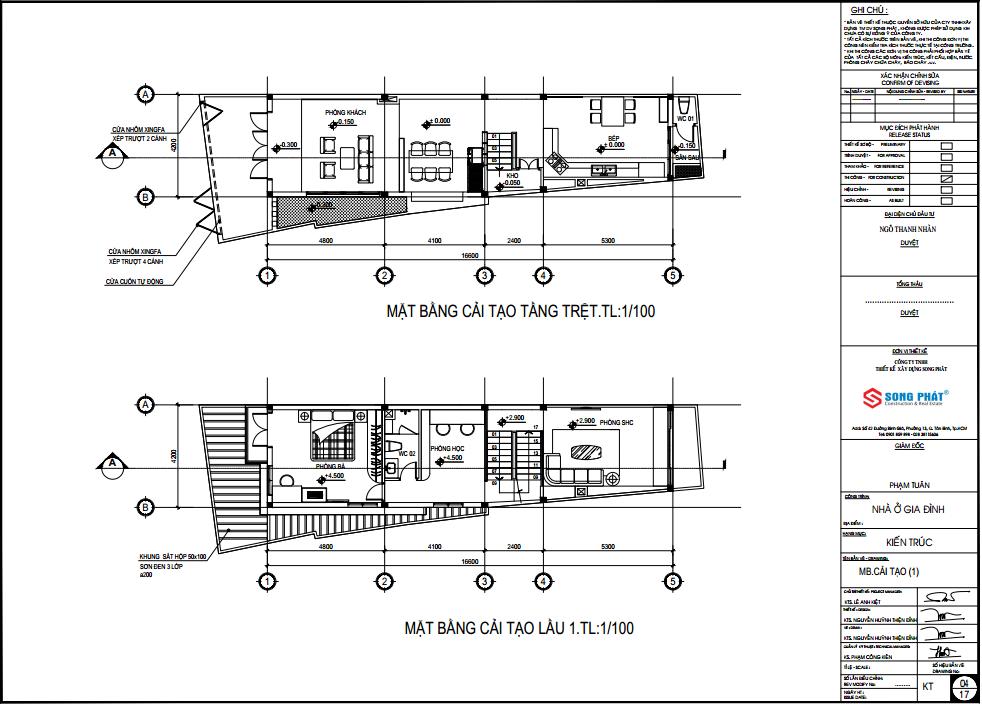cải tạo nhà ống 3 tầng tại quận 3