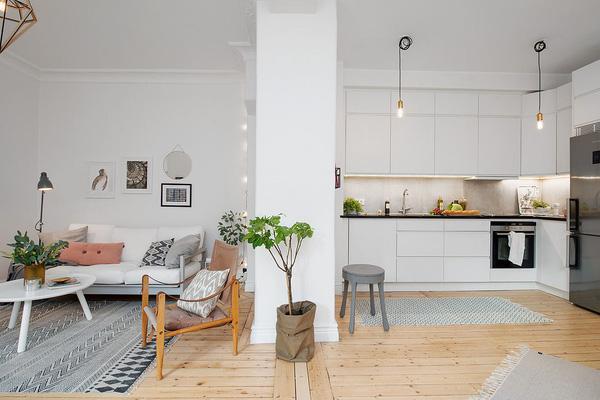 căn hộ 55m2 nội thất phong cách Scandinavia