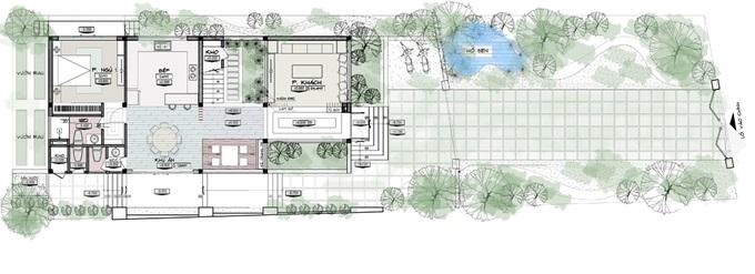 nhà 2 tầng sân vườn khu vực ngoại thành