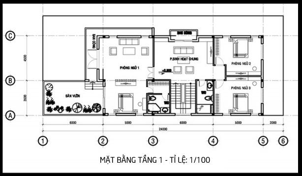 thiết kế nhà phố diện tích rộng