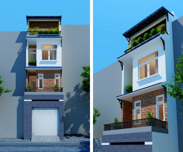 nhà phố 4 tầng diện tích nhỏ 4x16m