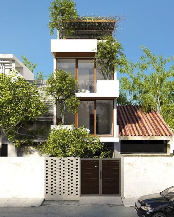 thiết kế ngoại thất nhà phố đẹp