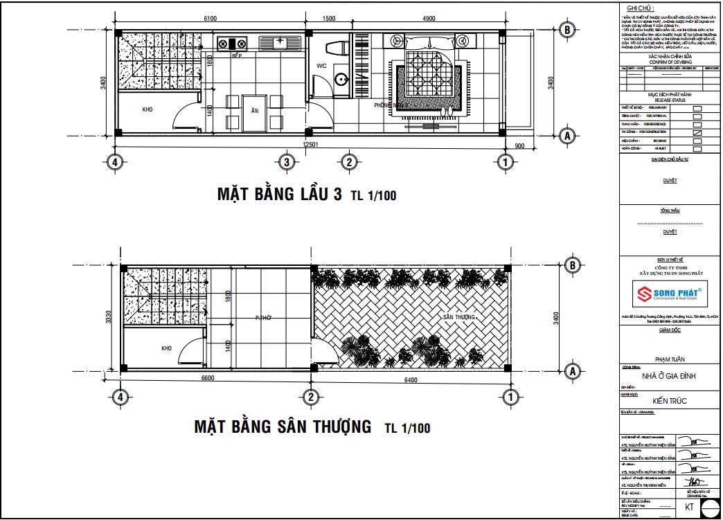 xây dựng nhà ống 4 tầng kinh doanh