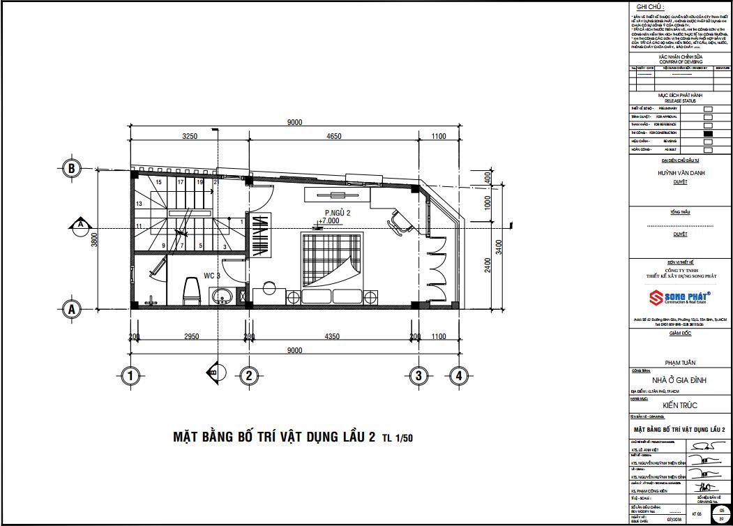 xây dựng nhà phố 1 trệt 2 lầu tại quận 5