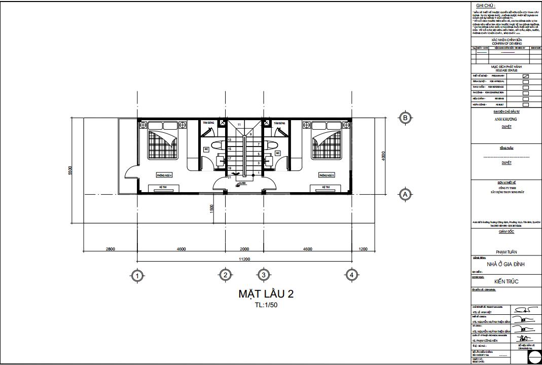 xây dựng nhà 1 trệt 1 lửng 2 lầu