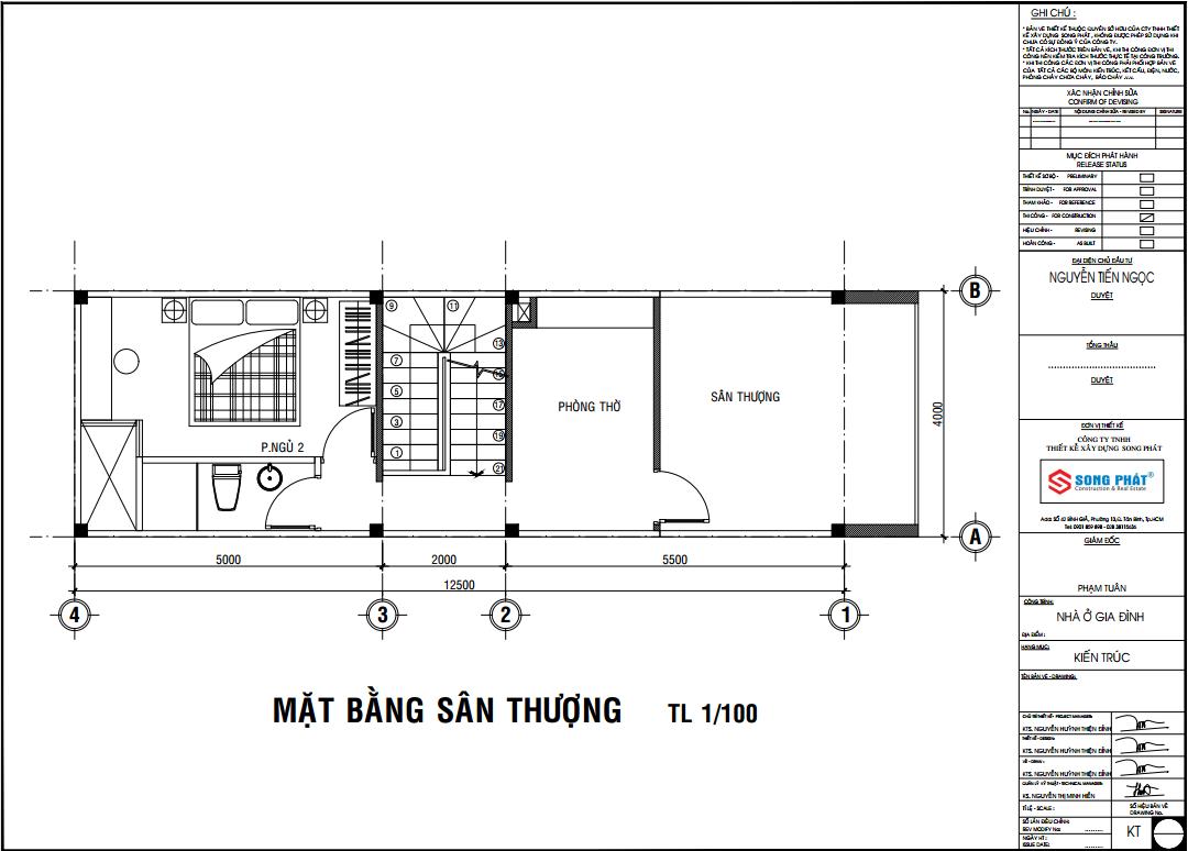 nhà phố 1 trệt 1 lầu sân thượng phong cách cổ điển