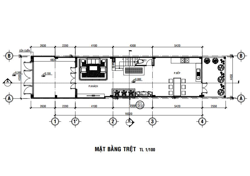 xây dựng nhà ống 3 tầng 4x16m tại quận 7
