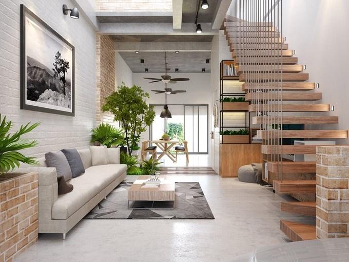 mẫu cầu thang đẹp cho nhà phố 2019