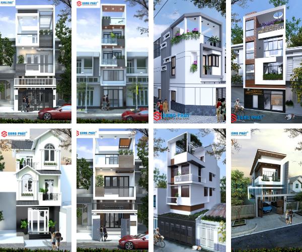 mẫu bản vẽ thiết kế nhà phố hiện đại 2019
