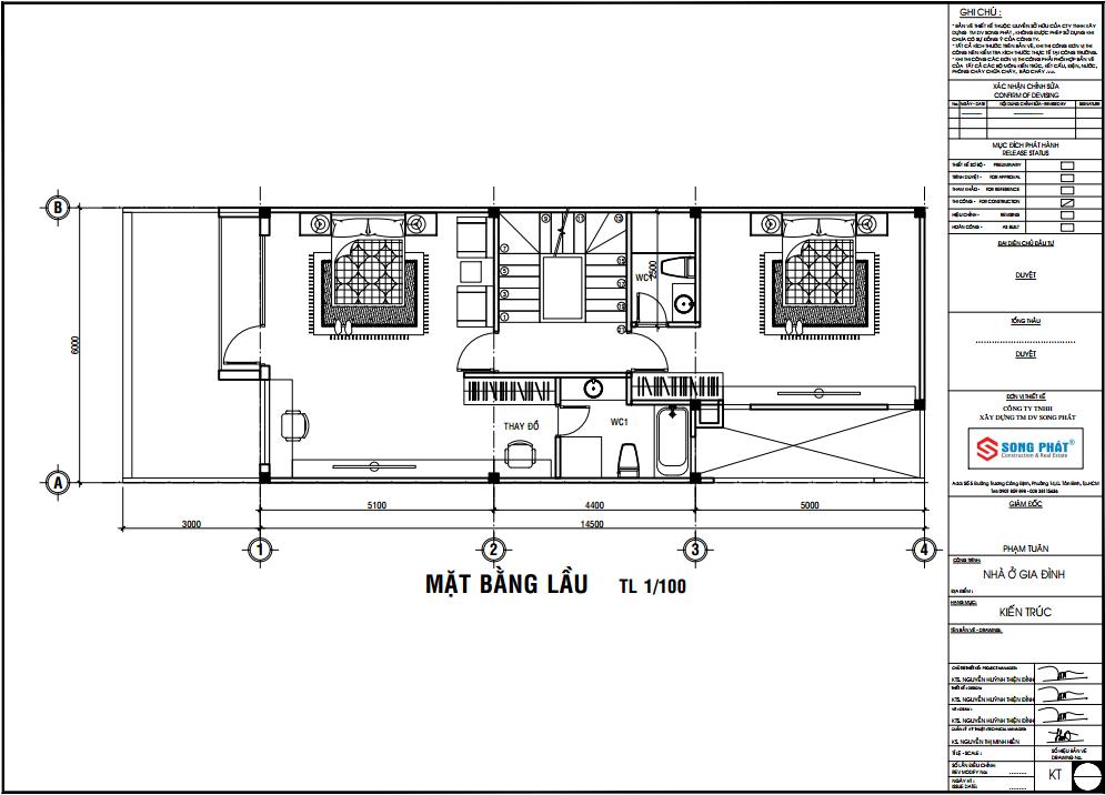 nhà 1 trệt 1 lầu sân thượng diện tích 6x14.5m