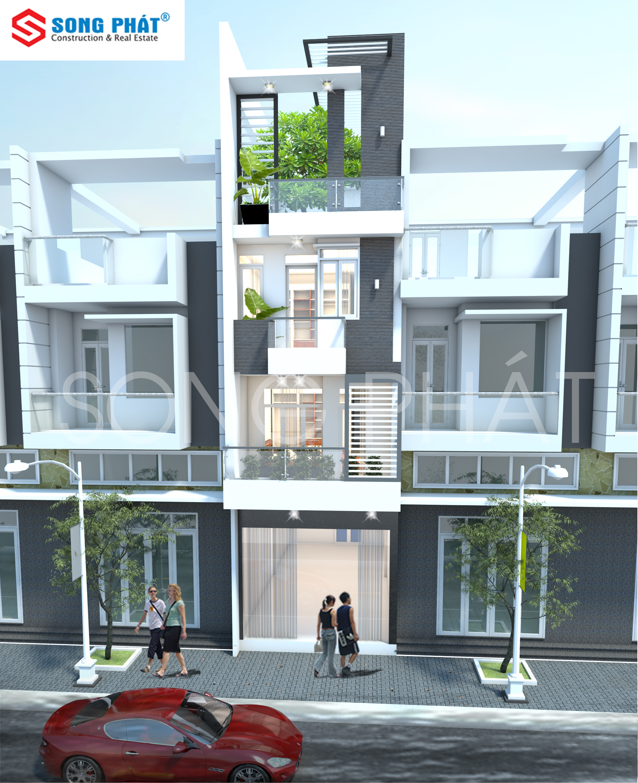 mẫu nhà phố 4 tầng đẹp 2019