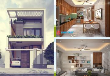 mẫu nhà phố 2 tầng đẹp năm 2019