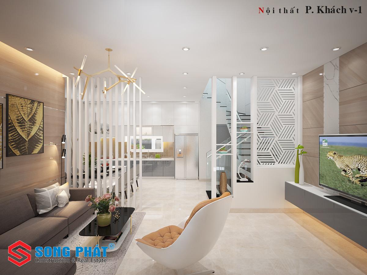 mẫu nhà ống 2 tầng sân thượng 2019