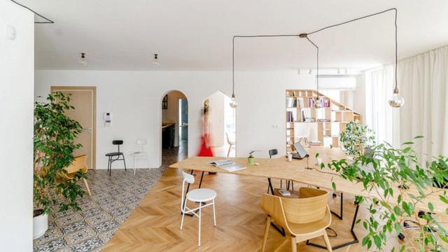 thiết kế căn hộ kết hợp văn phòng