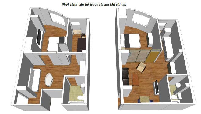 cải tạo căn hộ cho thuê