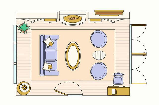 bản vẽ thiết kế phòng khách