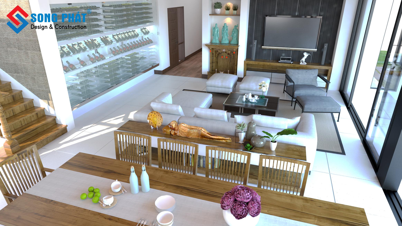 mẫu phòng khách hiện đại 7