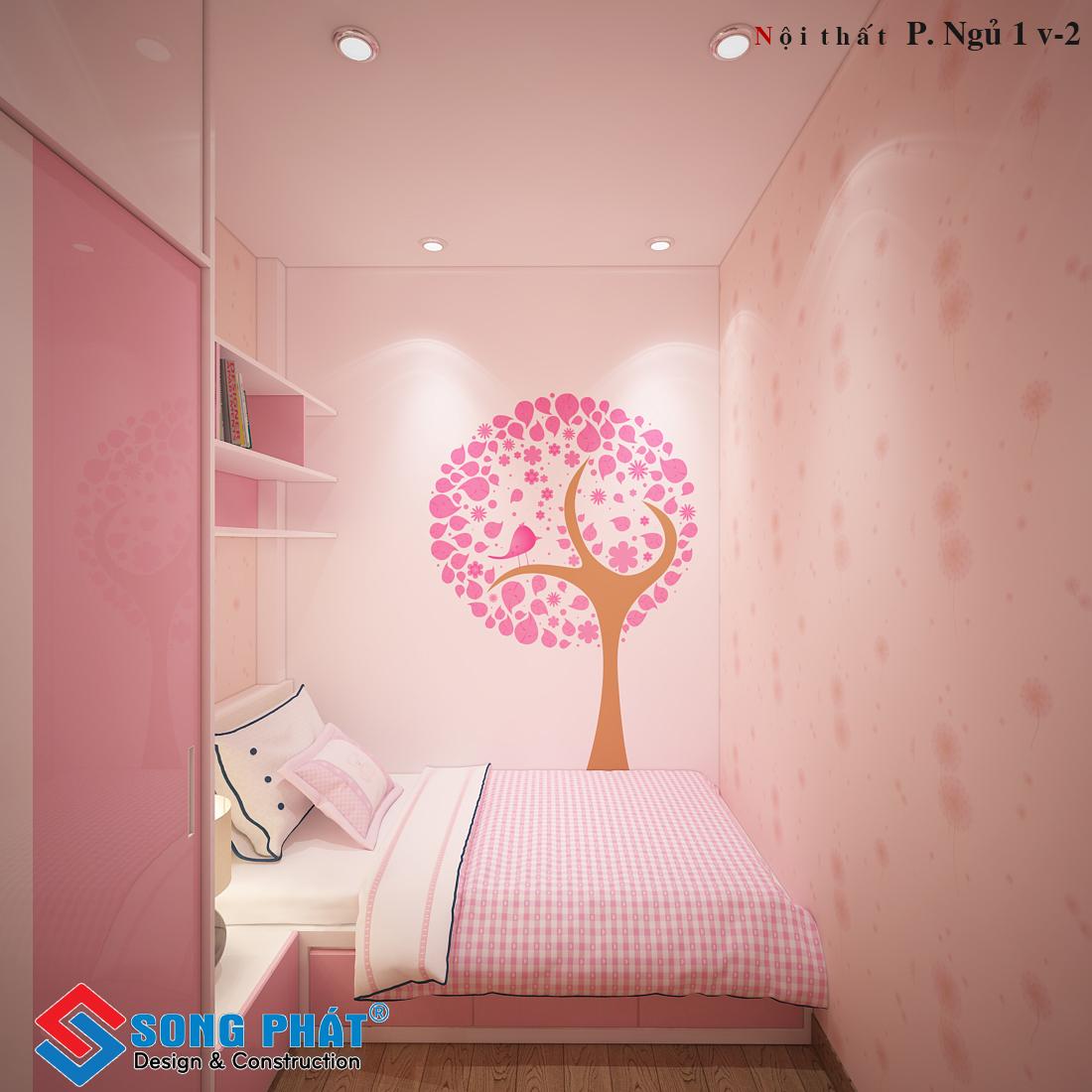 Phòng ngủ bé gái dễ thương 2.