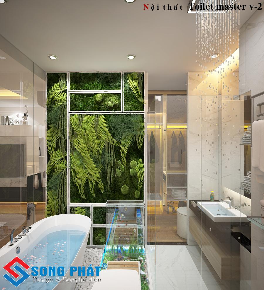 Cận cảnh phòng tắm với nội thất đẹp.